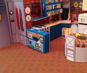 Friends Apartment Paper Diorama