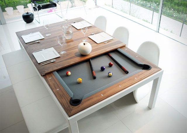 Convertible Billiards Dining Table