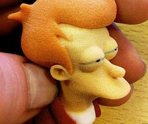3D Printed Futurama Fry Figurine