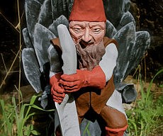 Game Of Gnomes Lawn Sculpture