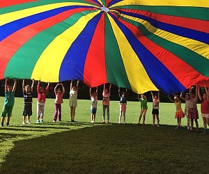 Giant Multi-Colored Parachute