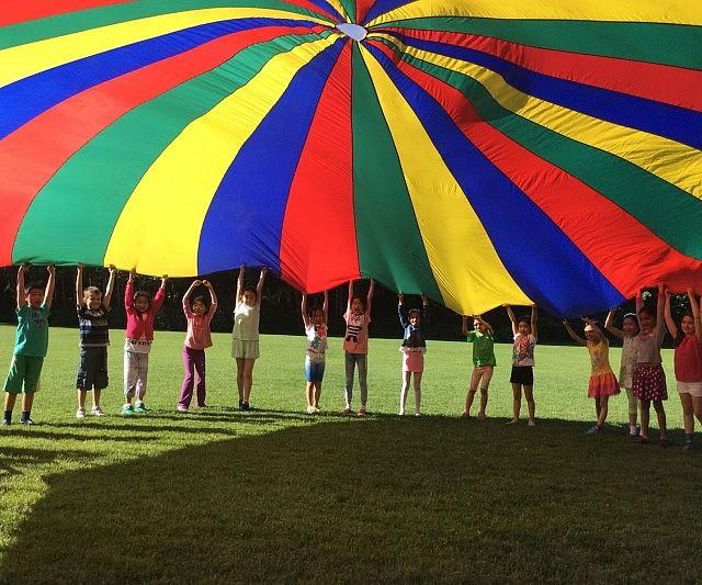 Giant Multi-Colored Parachute