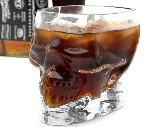 Glass Skull Drinking Cup