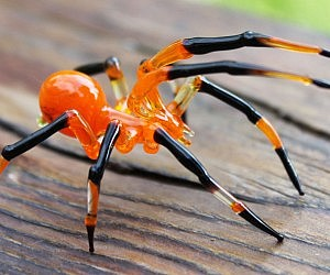 Glass Blown Spiders