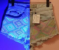 Glow In The Dark Jean Shorts
