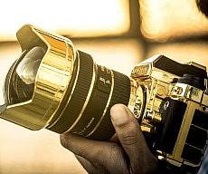 Gold Nikon DSLR