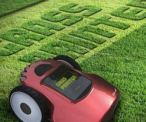 Grass Printer Lawn Mower