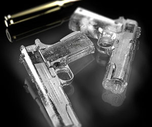 Gun Shaped Ice Cubes