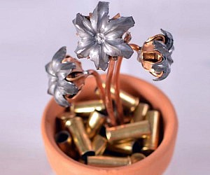 Hollow Point Bullets Flower Pot
