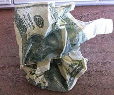Hundred Dollar Bill Tissues