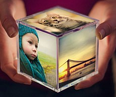 Illuminating Instagram Photo Cube