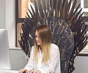 Iron Throne Chair Backboard