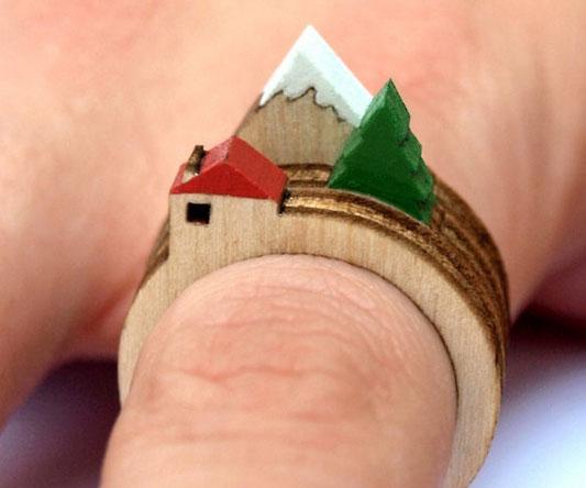 Wooden Landscape Ring