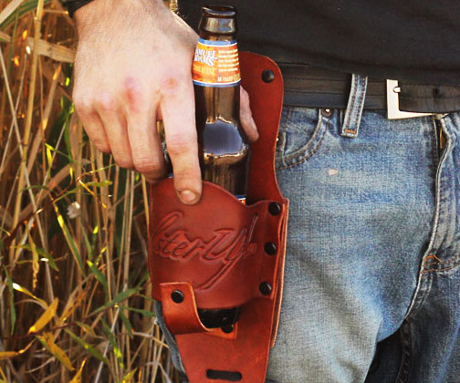 Leather Beer Holster Leather Beer Holster