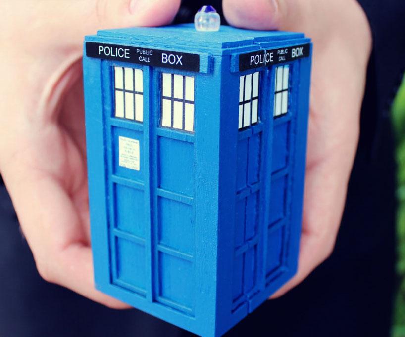 Tardis Wedding Ring Box Tardis Engagement Ring Box