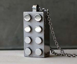 LEGO Block Necklace