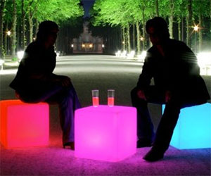 Outdoor Light Up Cubes