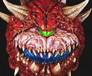 Light Up Doom Cacodemon Sculpture