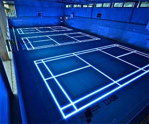 Light Up Glass Basketball Court