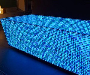 Blue Photoluminescent Mosaic Tiles