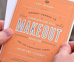 Makeout Session Contract Card
