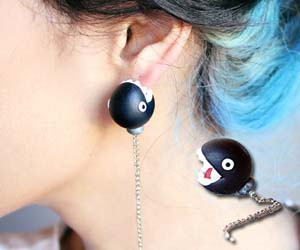 Mario Chain Chomp Earrings