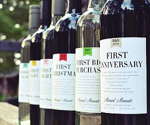 Marriage Milestone Wine Labels