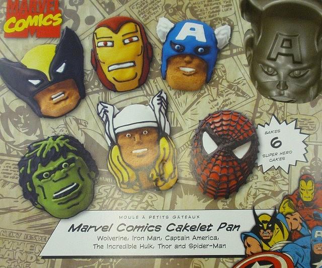 Superhero Mini Cake Molds