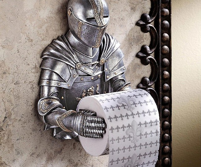 Knight Toilet Paper Holder