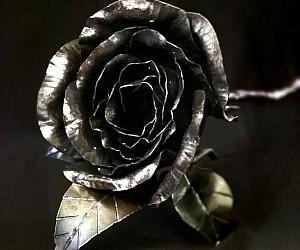 Steel Metal Rose Flower