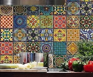 Mexican Talavera Tile Decal