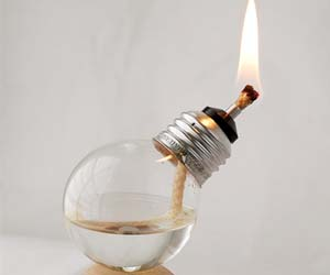 Mini Light Bulb Oil Lamps