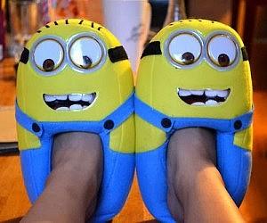 Minion Plush Slippers