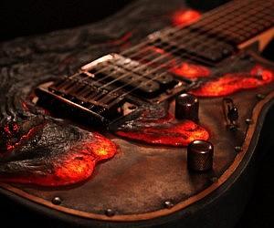 Molten Lava Guitar