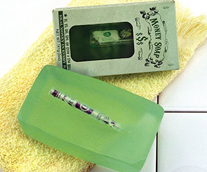 Money Filled Soap Bar