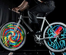 Animated Bicycle Wheels System