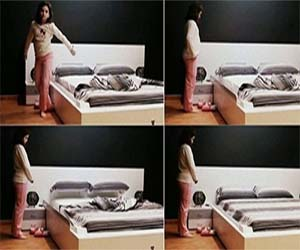 Motorized Self Making Bed