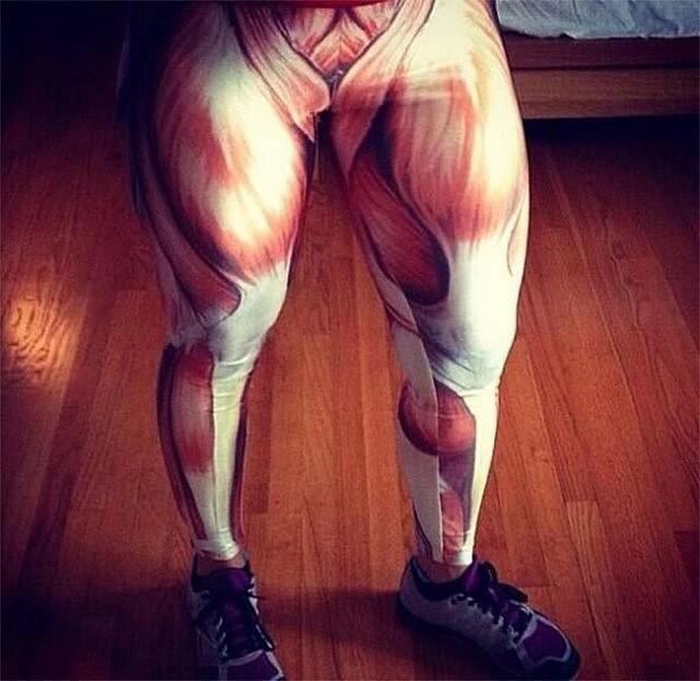 Exposed Muscles Leggings