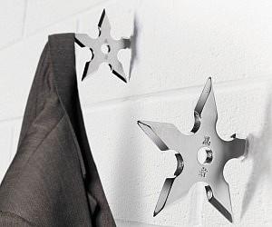 Ninja Star Coat Hangers