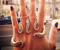 Diamond Octopus Tentacles Ring