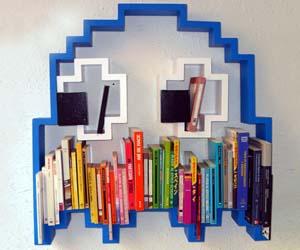 pacman-ghost-bookshelf