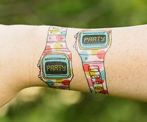 party-time-watch-tattoos
