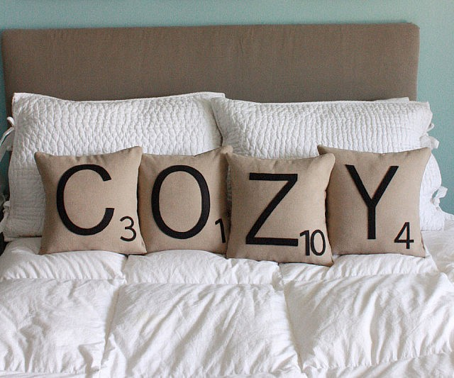 Personalized Scrabble Pillows