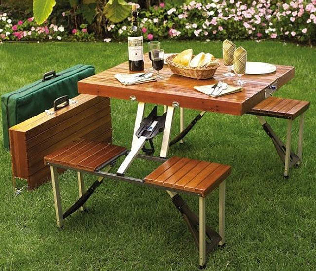 Suit Case Picnic Table