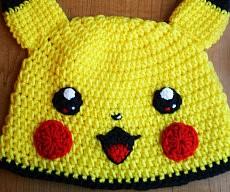 Pikachu Crocheted Beanie