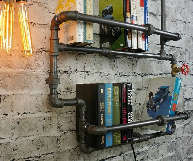 Plumbing Pipes Bookshelf