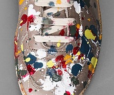 Jackson Pollock Styled Sneakers
