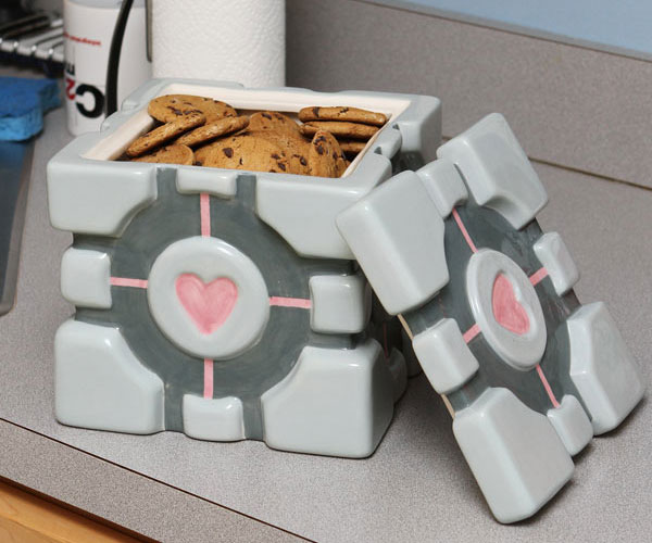 Portal Cube Cookie Jar