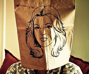 pretty-face-brown-paper-bag