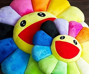 Rainbow Flower Cushion